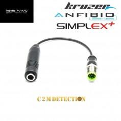 adaptateur casque 6.5 mm Anfibio / Kruzer / Gold Kruzer . Permet d'adapter n'importe quel type de casque filaire.
