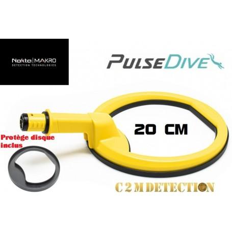 sonde aquatique Nokta Makro pulsedive jaune 20 cm